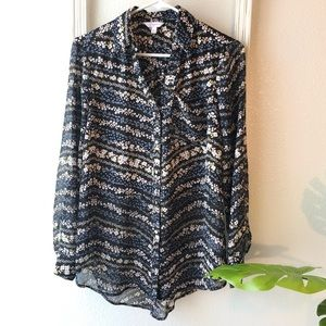 Candie's blouse long sleeve button down